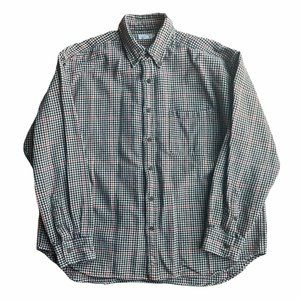 J. Crew Brown Red Houndstooth Button Down Flannel
